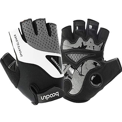 Fahrradhandschuhe Fingerlose Fahrrad Handschuhe Mountainbike Halbfinger