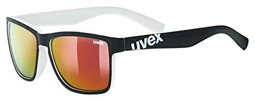 Uvex Erwachsene lgl 39 Sportbrille, Black mat White, One Size