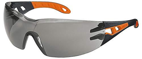 Uvex Pheos Schutzbrille – Supravision Excellence – Getönt/Schwarz-Orange