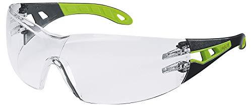 Uvex Pheos Schutzbrille – Suprav. Excellence – Transp./Schwarz-Grün