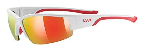 Uvex Erwachsene Sportstyle 215 Sportsonnenbrille, White mat red, One size