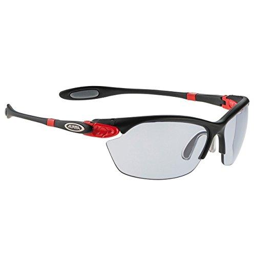 ALPINA Sonnenbrille Performance TWIST THREE 2.0 VL Outdoorsport-brille, Black Matt-Red, One Size