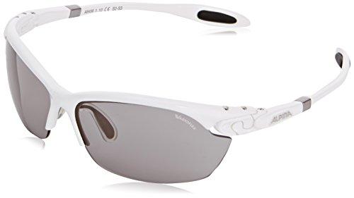 ALPINA Sonnenbrille Performance TWIST THREE 2.0 VL Outdoorsport-brille, White, One Size