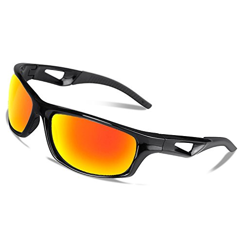 Polarisierte Fahrradbrille Sport Sonnenbrille Radbrille mit UV400 Schutz für Unisex, unzerbrechlichem Rahmen aus TR90, für Outdooraktivitäten wie Radfahren Laufen Klettern Autofahren Angeln Golf