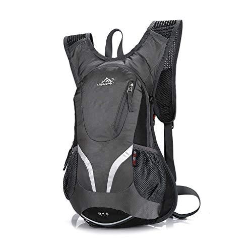 Jenor 15 L Fahrradrucksack mit Helmhalterung, leicht, Sporttasche, Mountainbike-Rucksack One size grau