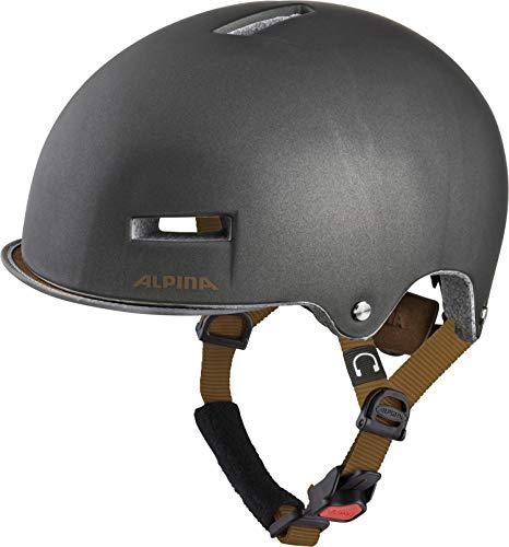 Alpina Unisex– Erwachsene Grunerlokka Fahrradhelm sepia 52-57 cm