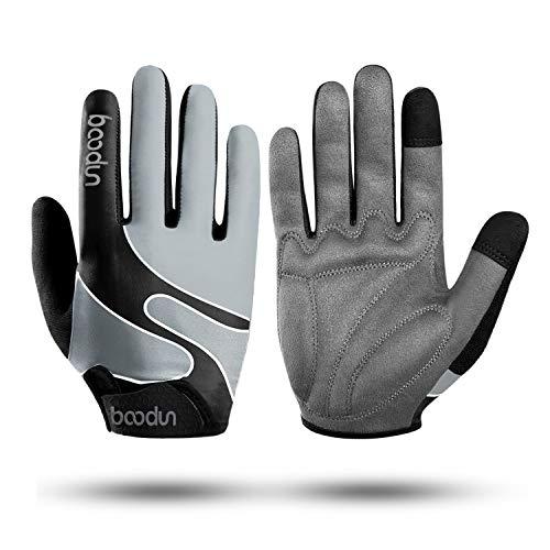 KONVINIT Fahrradhandschuhe Männer Vollfinger Handschuhe Damen, Mountainbike Handschuhe mit Touchscreen für MTB, Radsport,Fitness S