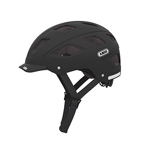Abus Erwachsene Fahrradhelm Hyban, Velvet Black, 52-58 cm