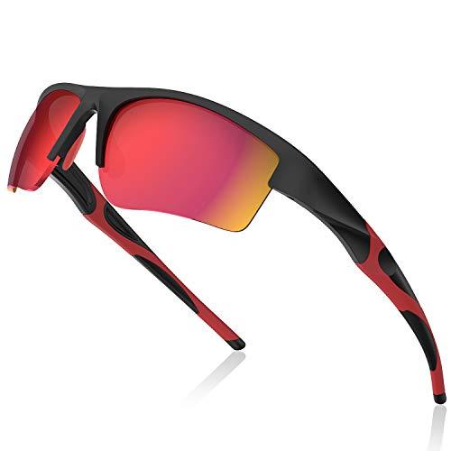 Avoalre Sportbrille Verspiegelte Fahrradbrille Winddicht Sportsonnenbrille Herren Damen Fahrerbrille