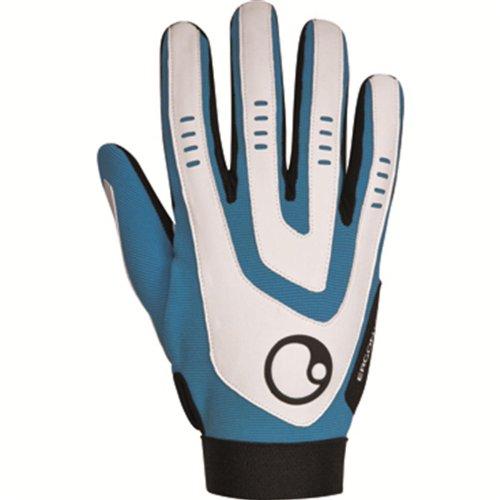 Ergon HE2 MTB Downhill Fahrrad Handschuhe Blau Mountainbike Langfinger Handschuhe Farbe Blau, Größe Large