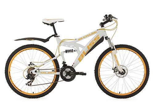 KS Cycling Fahrrad Mountainbike Fully Bliss Weiß/Gold, 26 Zoll