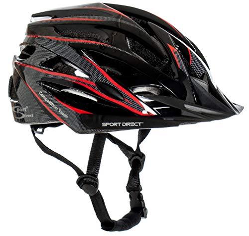 Sport Direct™ Herren Fahrradhelm Team Comp 24 Vent Graphit 58-61 cm CE EN1078:2012+A1:2012