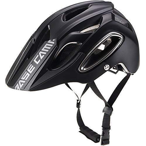 Basecamp Specialized Fahrradhelm Mountainbike Helm 56-62cm, MTB Helm Fahrradhelm Herren Damen mit abnehmbaren Visier Insektennetz gepolsterte Fahrradhelm Leicht (Schwarz)