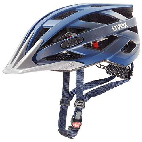 uvex Unisex– Erwachsene i-vo cc Fahrradhelm, darkblue metallic, 56-60 cm