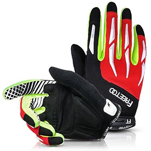 FREETOO Fahrradhandschuhe Radsporthandschuhe Vollfinger Mountainbike Handschuhe für Herren und Damen – Ideal gloves für Road Race, Radsport, Reiten, Wandern, Bergsteigen, Camping und mehr Sports im Freien