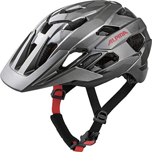 Alpina Unisex– Erwachsene ANZANA Fahrradhelm, darksilver-blk-red, 57-61 cm