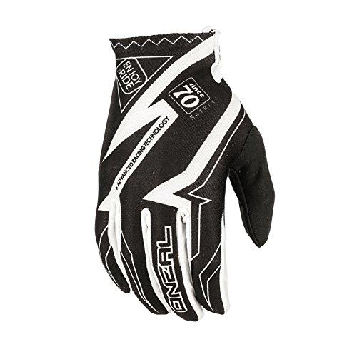 O'Neal Matrix MX Handschuhe RACEWEAR Schwarz Weiß Motocross Enduro Offroad, 0388R-5, Größe 2XL