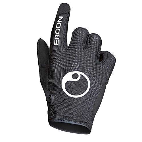 Ergon Fahrrad Handschuhe All Mountain Bike MTB Moto Cross Country Enduro Offroad Gelände, Größe M