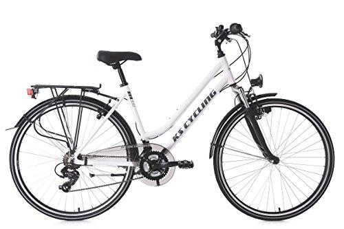 KS Cycling Damen Trekkingrad Alu-Rahmen 28'' Metropolis 48 cm Flachlenker Fahrrad, weiß, 28