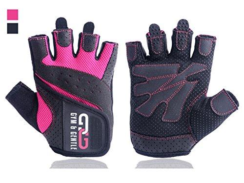 Gym & Gentle Damen Fitness Handschuhe – Schutz für Frauen beim Sport / Kraftsport / Fahrrad / Bodybuilding /Hanteltraining / Gym
