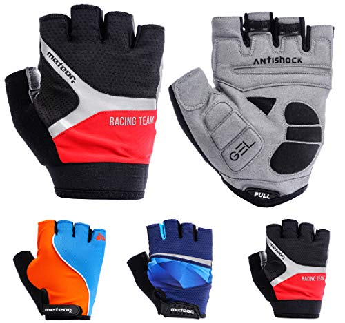 meteor Cycling Gloves radhandschuhe MTB Handschuhe Herren Gel fahrradhandschuhe Mountainbike Radsport Damen Radsport-Handschuhe Downhill Fahrrad Handschuhe Kinder (S (8,8cm/~3.4inch), GXQ 190)