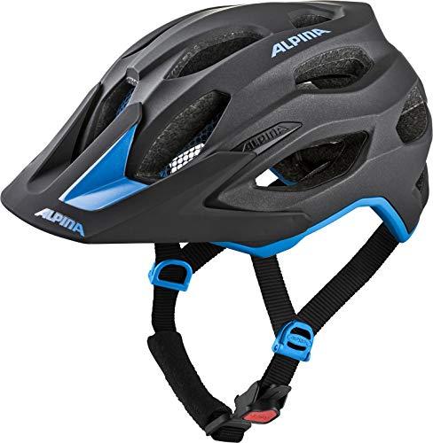 Alpina Unisex– Erwachsene Carapax 2.0 Fahrradhelm, Black-Blue, 57-62 cm