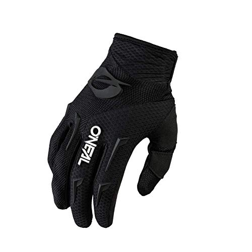 O'NEAL | Fahrrad-Handschuh Motocross-Handschuh | MX MTB DH FR Downhill Freeride | Langlebige, Flexible Materialien, belüftete Handinnenfäche | Element Glove | Herren | Schwarz Weiß | Größe XL