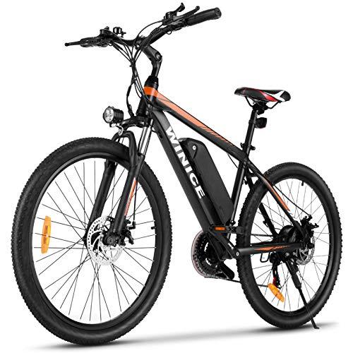 Vivi Elektrofahrrad, 26 Zoll elektrisches Mountainbike, 250W Erwachsene Elektrofahrräder mit Abnehmbarer 10,4 Ah Lithium-Ionen-Batterie, 21-Gang-Getriebe (26 Zoll-Gelb)