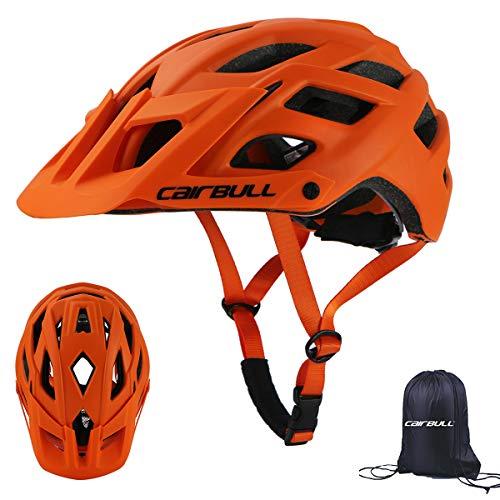 Cairbull City Aerodynamik Größe Specialized Fahrradhelm MTB Helm 55-61 cm Mountainbike Helm Herren & Damen Schwarz Mit Rucksack Fahrrad Helm Integral 19 Belüftungskanäle