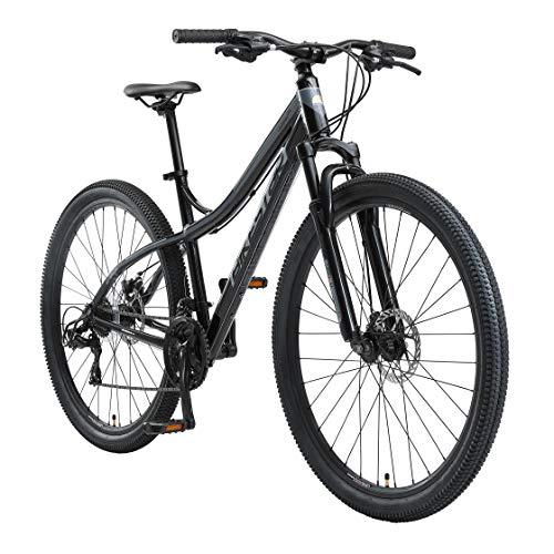 BIKESTAR Hardtail Aluminium Mountainbike Shimano 21 Gang Schaltung, Scheibenbremse 29 Zoll Reifen   18 Zoll Rahmen Alu MTB   Schwarz & Grau