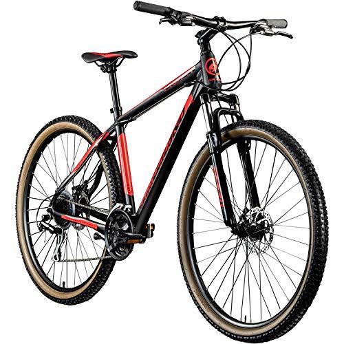 Galano MTB Hardtail 29 Zoll Fahrrad Heat Mountainbike 24 Gänge Mountain Bike (schwarz/rot, 48 cm)