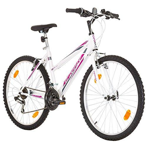 Multibrand, PROBIKE 6th SENSE, 460mm, 26 Zoll, Mountainbike, 18 gang, Schutzblech-Set, Für Damen (Rosa – Weiss)