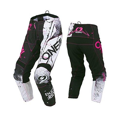 O'NEAL Element Shred Damen MX DH MTB Pant Hose lang schwarz/weiß/pink 2019 Oneal: Größe: 7/8 (32)