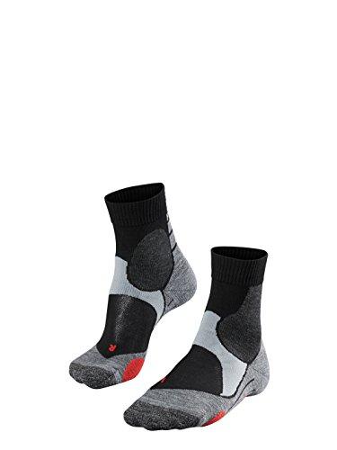 FALKE Unisex, Biking Socken BC3 für Damen und Herren, Fahrradsocken mit Baumwolle, 1 er Pack, Schwarz (Black-Mix 3010), 42-43