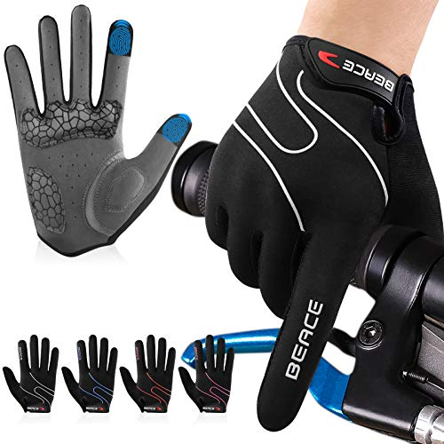 BEACE Fahrradhandschuhe Touchscreen Winterhandschuhe Herren Damen MTB Handschuhe Radsporthandschuhe rutschfeste und stoßdämpfende Mountainbike Handschuhe zum Radfahren,Laufen,Fahren,Joggen, Skifahren