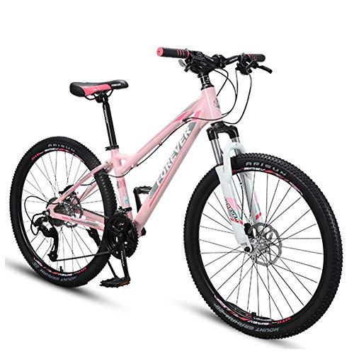 Xiaoyue 26 Zoll Damen Mountain Bikes, Alurahmen Hardtail Mountainbike, Verstellbarer Sitz Lenker, Fahrrad mit Federgabel, 33 Geschwindigkeit lalay (Size : 27 Speed)