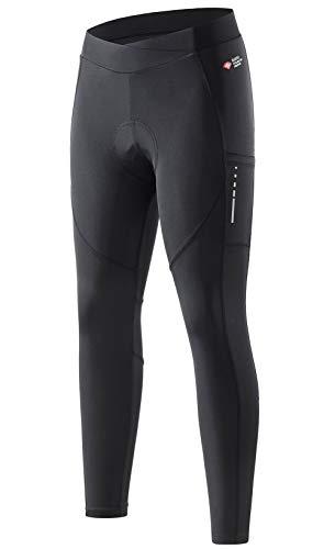 Santic Damen Radsport Lange Hosen Gepolstert Frauen Radsport-Leggings Fahrradhosen Tights Elastische Atmungsaktive