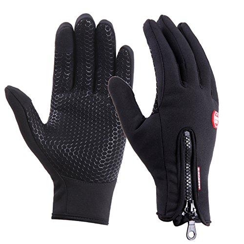 UPhitnis Fahrradhandschuhe für Herren Damen – Outdoor Winddicht Touchscreen Handschuhe – Frühling Herbst Winterhandschuhe für Lauf Radfahren Jagd Sports