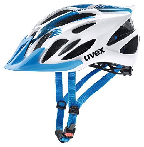 Uvex Unisex– Erwachsene Flash Radhelm, white blue, 53-56