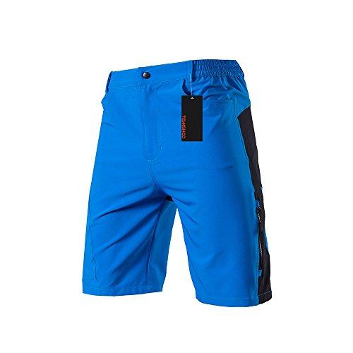 TOMSHOO Herren Radhose, Männer Fahrradhose Kurz, Atmungsaktiv und Schnelltrocknende MTB Hose Herren, Outdoor Shorts