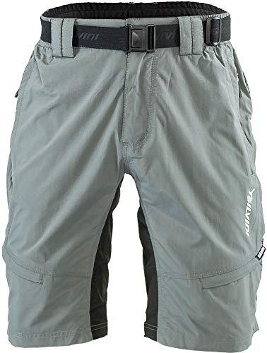 SILVINI Radhose Herren Rango mit 6 Taschen für Radfahren und Andere Outdoor-Aktivitäten Grau/Limette – L