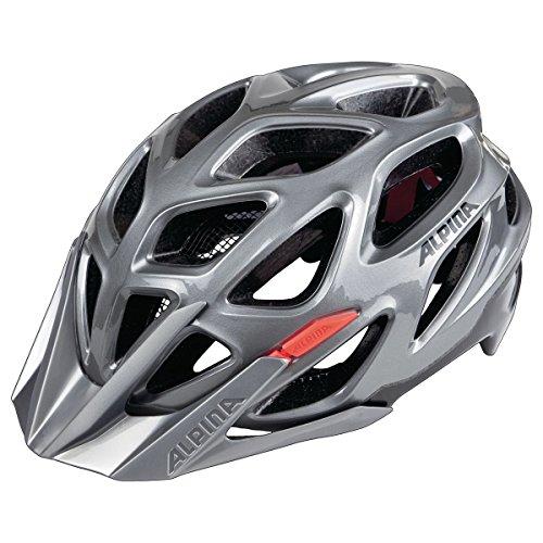 ALPINA MYTHOS 3.0 Fahrradhelm, Unisex– Erwachsene, darksilver-blk-red, 52-57