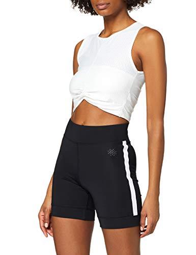 Amazon-Marke: AURIQUE Damen Sport Shorts Side Stripe Cycling, Schwarz (Black), 38, Label:M