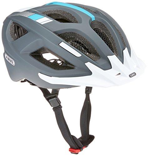 ABUS Aduro 2.0 Stadthelm – Allround-Fahrradhelm in sportivem Design für den Stadtverkehr – für Damen und Herren – 72549 – Grau/Weiß, Größe L