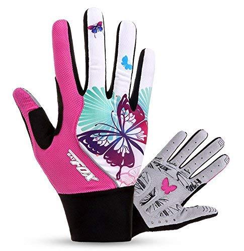 HASAGEI Radfahren Handschuhe Damen Touch Screen Sport Mountain Road Bike Fahrrad Handschuhe, Rosa, L