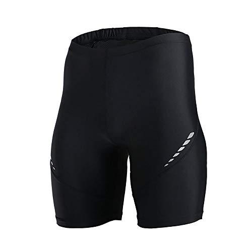 Huangwanru Herren Bike Radhose Männer Reflektierende dünne Stretch Shorts Geeignet for Laufen und Wandern Für Fahrradfahren Fitness Sport (Color : Black, Size : M)