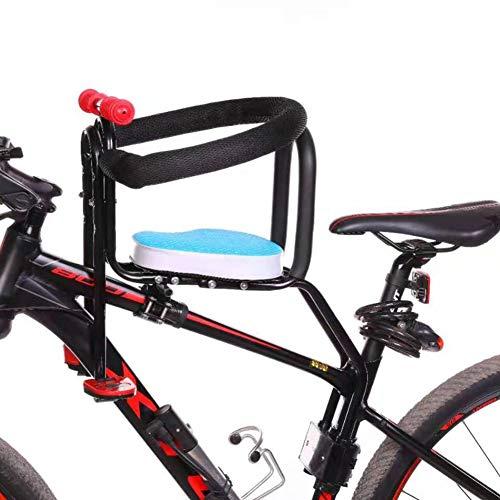 WZOED Kindersitz, Fahrradsitz Kind Modischer Abnehmbarer Fahrrad-Vordersitz Kindersitz Pedal mit Griff für Herrenfahrrädern und Damenrädern (Blau-1)