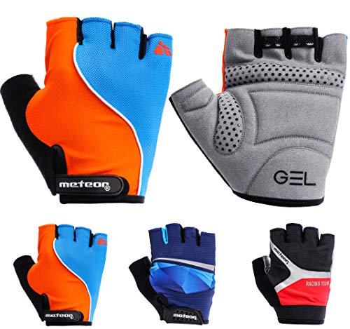 meteor Cycling Gloves radhandschuhe MTB Handschuhe Herren Gel fahrradhandschuhe Mountainbike Radsport Damen Radsport-Handschuhe Downhill Fahrrad Handschuhe Kinder (L (~9,6cm/~3.7inch), GXQ 120)