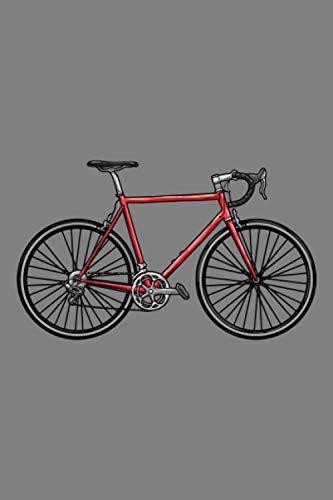 Notizbuch, 120 Seiten: Herrenfahrrad – Rennrad – Fahrrad Notizbuch- Tagebuch – Skizzenbuch – Schulheft für Frauen, Männer und Kinder – Weißes Papier – 6×9 Zoll – Punktraster