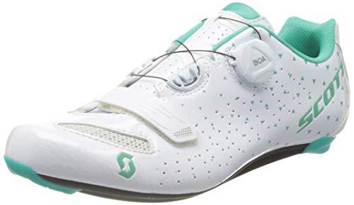 Scott 251824 Road Comp Boa Lady gl wh/tq bl 37.0 Unisex – Erwachsene Schuhe, Unisex, Gl Wh Tq Bl, 39 EU